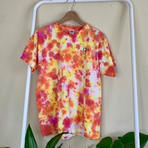 B+ ORANGE SPLASH TYE DYE TOP