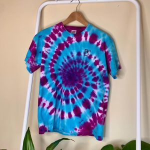 B+ DEEP PURPLE TYE DYE TOP